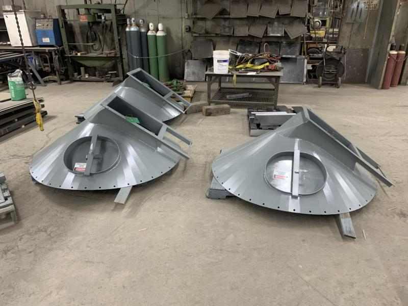 ESI fabricated exact replacements for the original hoppers.