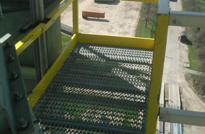 Custom ESI Catwalk Providing Access To a BS&B Cannon