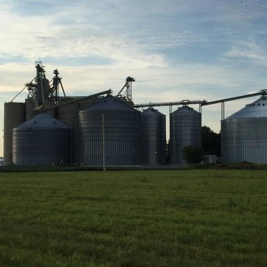 Several phases of steel grain storage additions